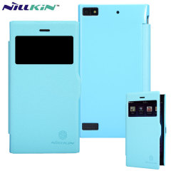 Funda BlackBerry Z3 Nillkin Fresh Faux View - Azul