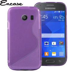 Guscio modellato su misura in materiale gel trasparente, per proteggere a lungo il tuo Samsung Galaxy Ace Style. Colore viola.