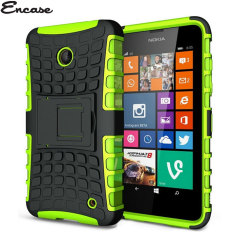 Protect your Lumia 630 / 635 from bumps and scrapes with this green ArmourDillo case. Comprised of an inner TPU case and an outer impact-resistant exoskeleton, with a built in viewing stand.