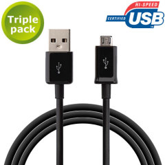 This triple pack of data / charging cables allows you to connect any device such as phones to a PC via MicroUSB. It supports charging currents over 2 amps
