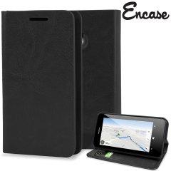 Encase Leather-Style Nokia Lumia 630 / 635 Wallet Case - Black