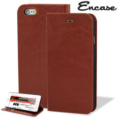 Protect your iPhone 6 Plus with this durable and stylish light brown leather-style wallet case. What's more, this case transforms into a handy stand to view media.
