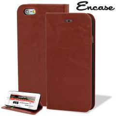 Custodia a portafogli Encase per iPhone 6 Plus - Marrone
