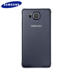 Original Samsung Galaxy Alpha Back Cover in Schwarz