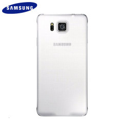 Original Samsung Galaxy Alpha Back Cover in Weiß