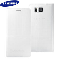 Original Galaxy Alpha Tasche Flip Wallet Cover in Weiß