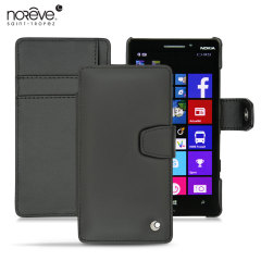 Protect your Nokia Lumia 930 in style with this luxurious hand-crafted, sleek black leather tradition B case by Noreve.