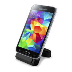 Synchronise and charge your Samsung Galaxy S5 with this stylish, case compatible desktop dock. The Cover-Mate Desktop Charging Dock also acts as a multimedia stand, positioning your Galaxy S5 at the perfect angle for viewing pictures and videos.