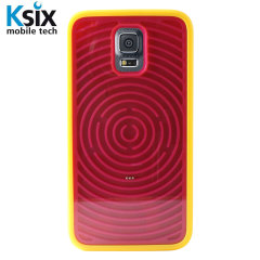 Ksix Retro Games Samsung Galaxy S5 Case - Red / Yellow