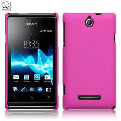 ToughGuard Sony Xperia E Hybrid Rubberised Case - Pink