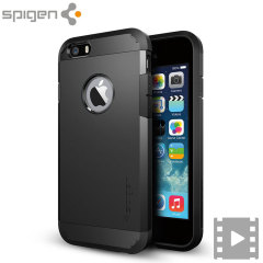 The SGP Tough Armor Case in smooth black is the ultimate protective case for the iPhone 6S / 6, providing superb impact absorption due to Spigen's air cushion technology.
