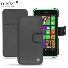 Noreve Tradition B Nokia Lumia 630 Ledertasche in Schwarz