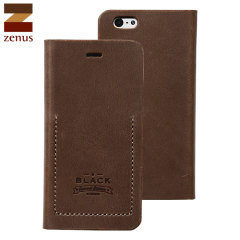 Zenus Tesoro iPhone 6S / 6 Leder Diary Tasche in Braun