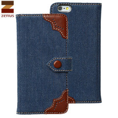 Zenus Denim Oxford Diary iPhone 6 Hülle in Blau