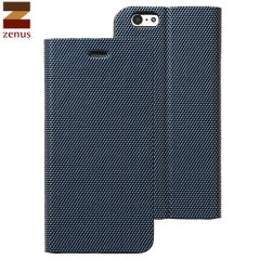 Zenus iPhone 6S / 6 Metallic Diary Stand Hülle in Navy Blue