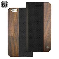 Uunique Perforated Design Wooden iPhone 6S / 6 Case  - Black