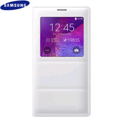 Original Samsung Galaxy Note 4 Tasche S View Cover - Weiß