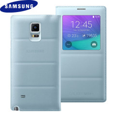 Original Samsung Galaxy Note 4 Tasche S View Cover - Mintgrün