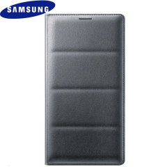 Original Samsung Galaxy Note 4 Flip Wallet Tasche - Charcoal Black