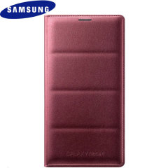 Original Samsung Galaxy Note 4 Flip Wallet Tasche - Plum Red