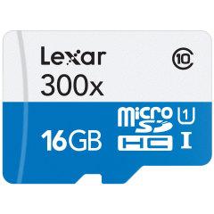 Lexar 16GB MicroSDHC Class 10 Memory Card with SD Adapter - Class 10