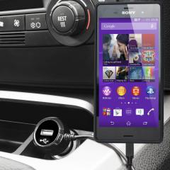Gardez votre Sony Xperia Z3 complètement chargé grâce à ce chargeur voiture de 2.4A avec un cordon spiral extensible. De plus, vous pouvez charger un appareil supplémentaire grâce au port USB intégré.