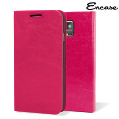 Custodia a portafogli Encase per Samsung Galaxy Note 4 - Rosa