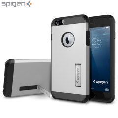 Custodia Tough Armor Spigen per iPhone 6 Plus - Satin Silver