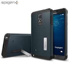 Spigen Tough Armor Samsung Galaxy Note 4 Hülle in Metal Slate