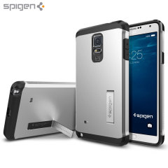 Coque Samsung Galaxy Note 4 Spigen Tough Armor - Argent