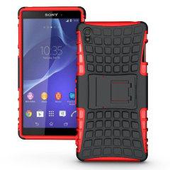Custodia ArmourDillo Encase per Sony Xperia Z3 - Rosso