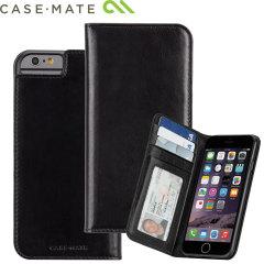 Case-Mate Leren Wallet Folio Case voor iPhone 6S / 6 - Zwart