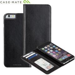 Case-Mate Leather Wallet Folio iPhone 6S Plus / 6 Plus Case - Black