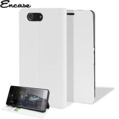 Custodia slim a portafogli Encase per Sony Xperia Z3 Compact - Bianco