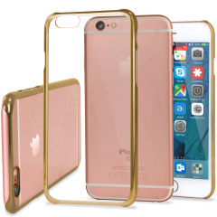 Coque iPhone 6S / 6 Polycarbonate Glimmer – Or / Transparente