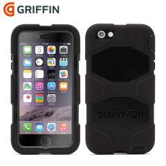 Gemaakt naar Britse en Amerikaanse militaire specificaties en onafhankelijk getest in extreme omstandigheden. De zwarte Griffin Survivor case voor de iPhone 6S Plus / 6 Plus biedt weergaloze bescherming.