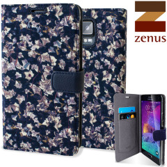 Custodia a libro Liberty Zenus per Samsung Galaxy Note 4 - Navy Ivy