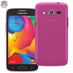 Crystal case-like protection with the durability of a silicone case for the Samsung Galaxy Avant in pink.