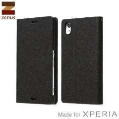 Zenus Minimal Diary Sony Xperia Z3 Case - Black