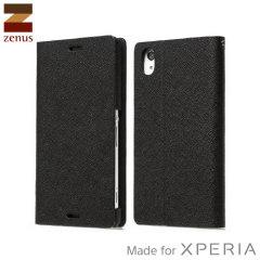 Zenus Minimal Diary Series Xperia Z3 Tasche in Schwarz