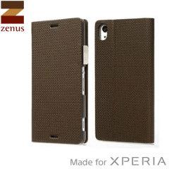 Custodia Metallic Diary Zenus per Sony Xperia Z3 - Bronzo