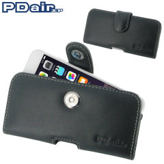 Custodia orizzontale in pelle PDair per iPhone 6 - Nero