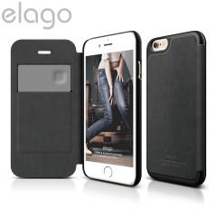 Elago Leather Flip Case for iPhone 6 - Black