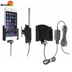 Charge and use your iPhone 7 Plus / 6S Plus / 6 Plus in your vehicle with the Brodit active holder with tilt swivel.