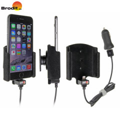 Charge and use your iPhone 7 / 6S / 6 in your vehicle with this Brodit active holder with tilt swivel.