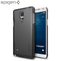 Spigen Thin Fit Samsung Galaxy Note 4 Shell Case - Black