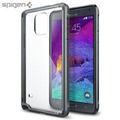 Spigen Ultra Hybrid Samsung Galaxy Note 4 Bumper Case - Gunmetal