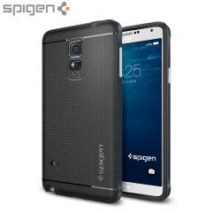 Spigen Neo Hybrid Case Samsung Galaxy Note 4 Hülle in Metal Slate
