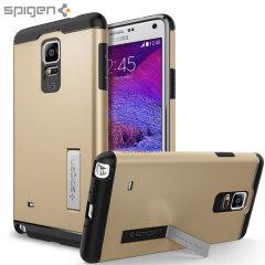 Spigen Slim Armor Case Samsung Galaxy Note 4 Hülle in Champagne Gold