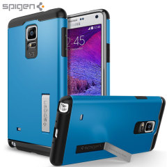 Coque Samsung Galaxy Note 4 Spigen Slim Tough Armor - Bleue